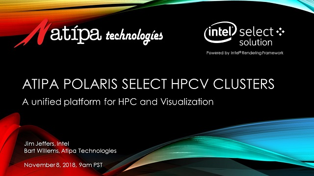 Atipa Polaris Select HPCV Clusters: A Unified Platform for HPC and Visualization