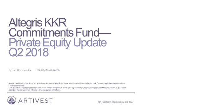 KKR Commitments Fund: Private Equity Update - Q2 2018