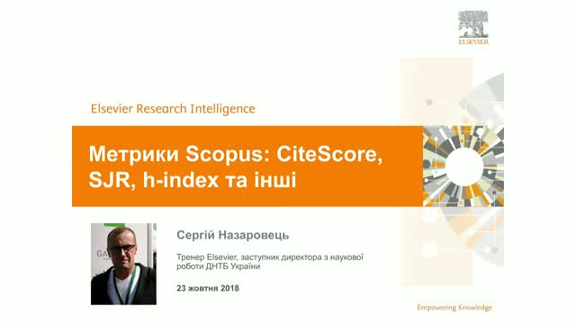 Метрики Scopus: CiteScore, SJR, h-index та інші