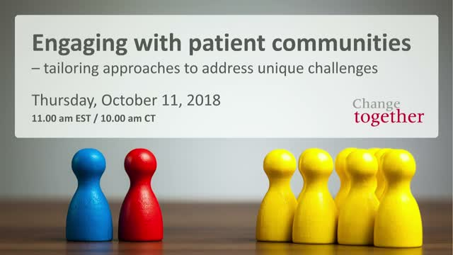 Engaging with patient communities – tailoring approaches