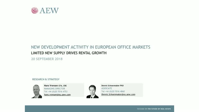 New development activity in European offices
