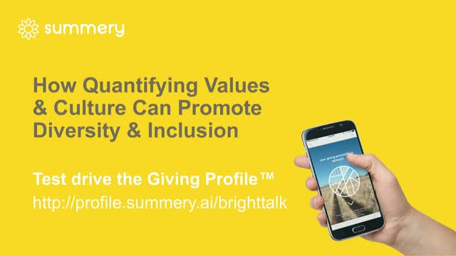How Quantifying Values & Culture Can Promote Diversity & Inclusion