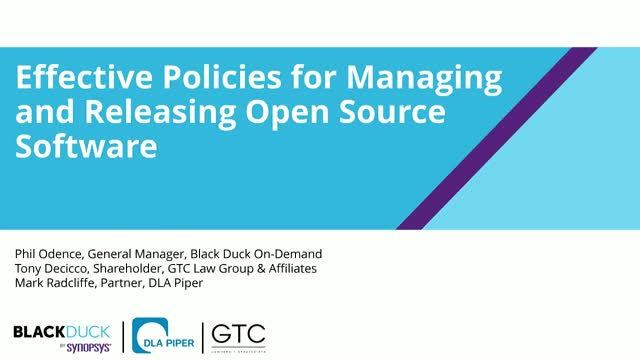 Effective Policies for Managing and Releasing Open Source Software