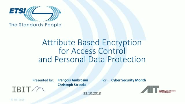 Attribute-Based Encryption for Access Control and Personal Data Protection
