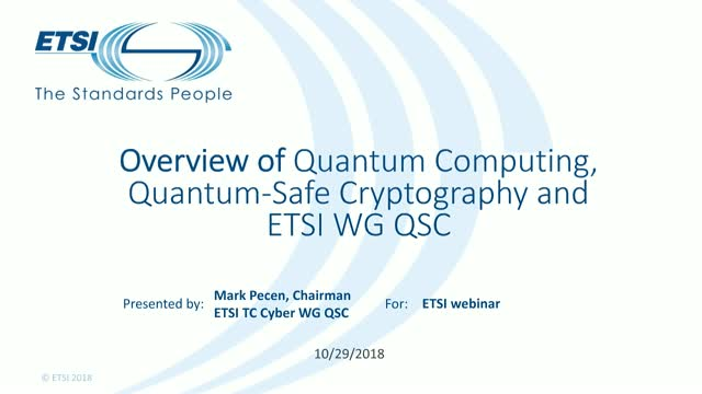 Quantum-Safe Cryptography (QSC) in TC CYBER