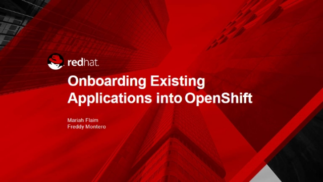 Making existing applications work on OpenShift