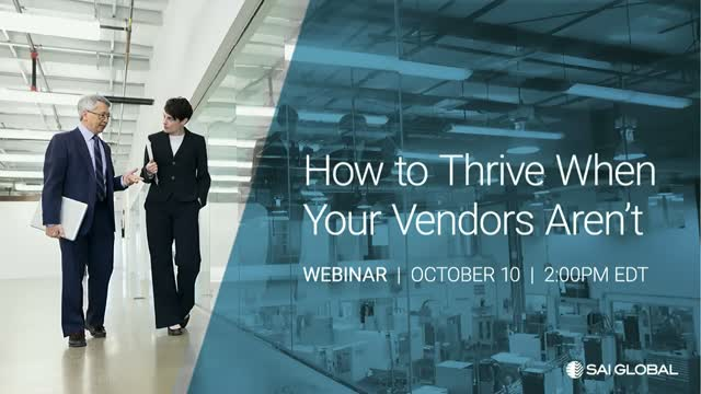 How to Thrive When Your Vendors Aren't