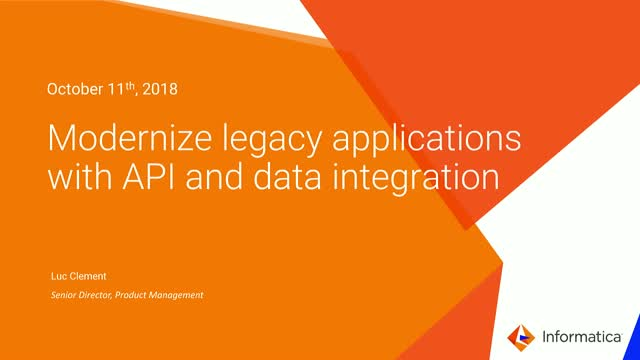 Modernize legacy applications with API and data integration