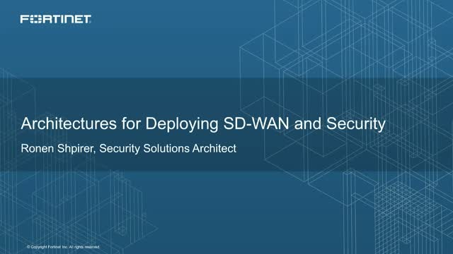 Architectures for deploying SD-WAN and Security