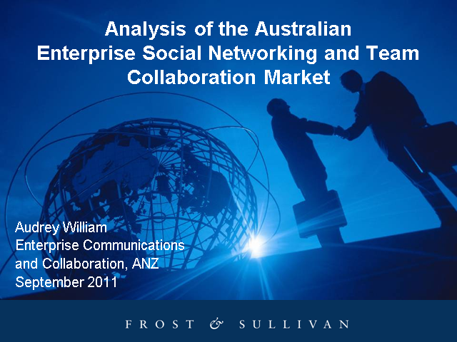 Understanding Trends in the Australian Social Media and Collaboration Market