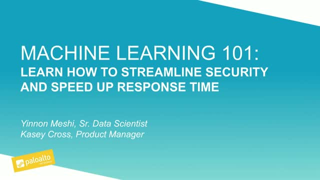 Machine Learning 101: Streamline Security and Speed Up Response Time