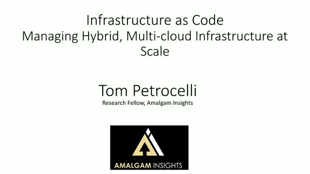 Infrastructure as Code: Managing Hybrid, Multi-cloud Infrastructure at Scale