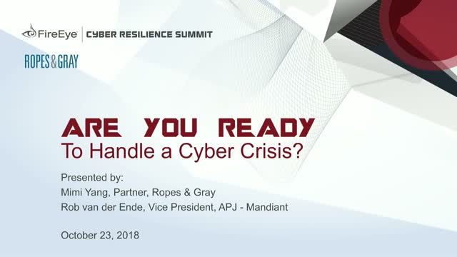 Are you Ready to Handle a Cyber Crisis?