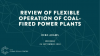 Review of flexible operation of coal power plants