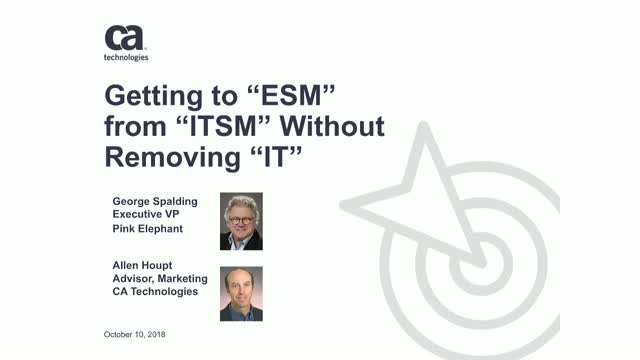 "Getting to ""ESM"" from ""ITSM"" Without Removing ""IT"""