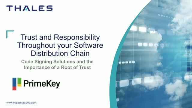 Trust and responsibility throughout your software distribution chain