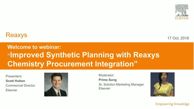 Improved Synthetic Planning with Reaxys Procurement Integration - 9am CET