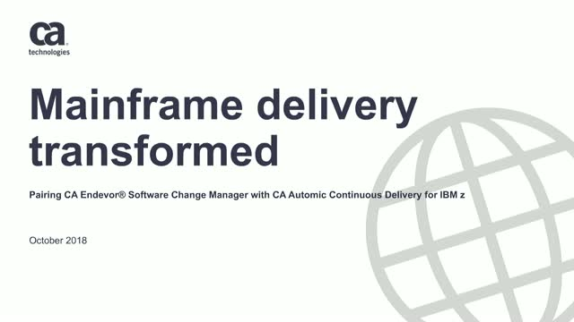 Mainframe Delivery: Transformed!