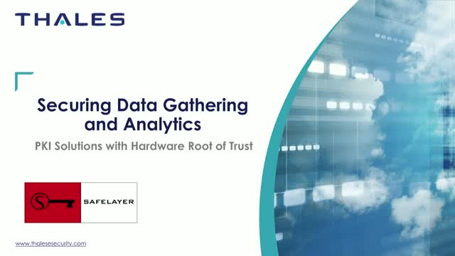 Secure Data Gathering and Analytics: PKI Solutions with Hardware Root of Trust