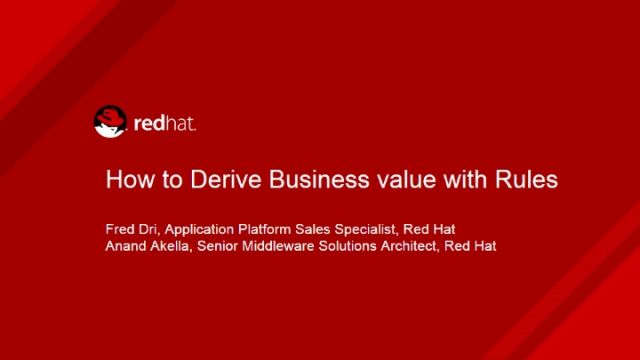 How to derive business value with rules
