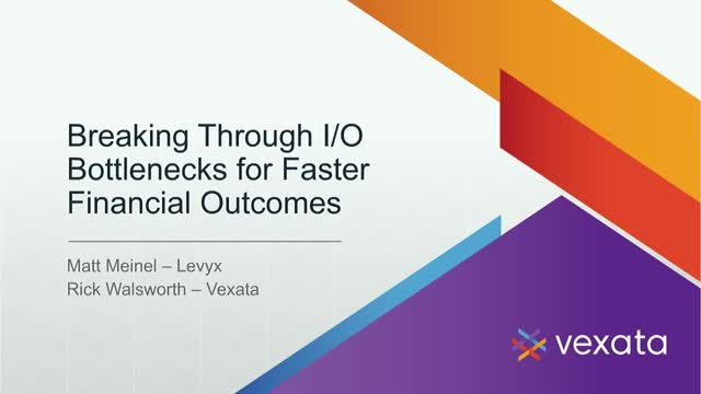 Breaking through I/O Bottlenecks for Faster Financial Outcomes