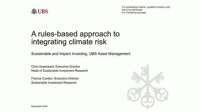 A rules-based approach to integrating climate risk