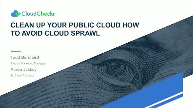 Clean Up Your Public Cloud → How to Avoid Cloud Sprawl