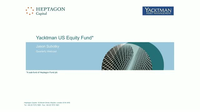 Yacktman US Equity Fund Q3 2018 Webcast