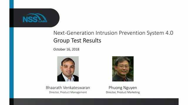 Next Generation Intrusion Prevention System 4.0 Group Test Results