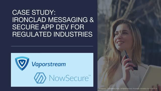 Case Study: Ironclad Messaging & Secure App Dev for Regulated Industries