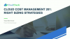 Cloud Cost Management 201: Right Sizing Strategies