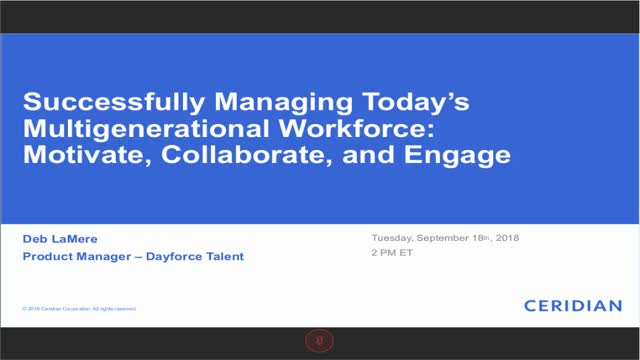 Managing Today's Multigenerational Workforce: Motivate, Collaborate, and Engage