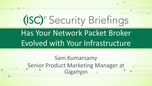 Has Your Network Packet Broker Evolved with Your Infrastructure?