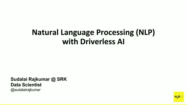 Natural Language Processing (NLP) with Driverless AI