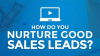 Lead Generation: how do you nurture good sales leads?