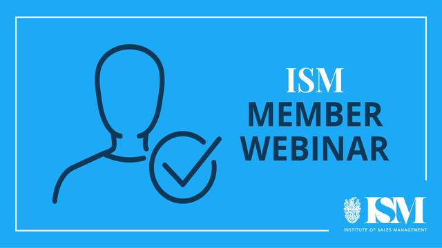 ISM Webinar: Social Selling In The Real World
