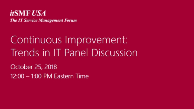 Continuous Improvement: Trends in IT