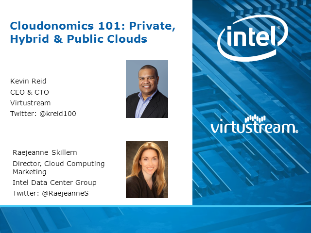 Cloudonomics 101: Private, Hybrid & Public Clouds