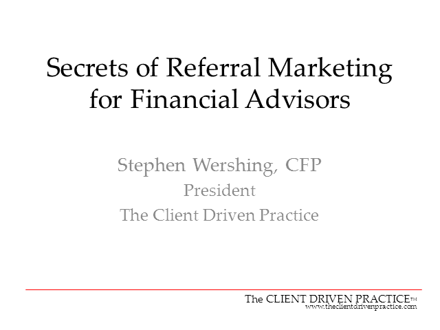 Secrets of Referral Marketing