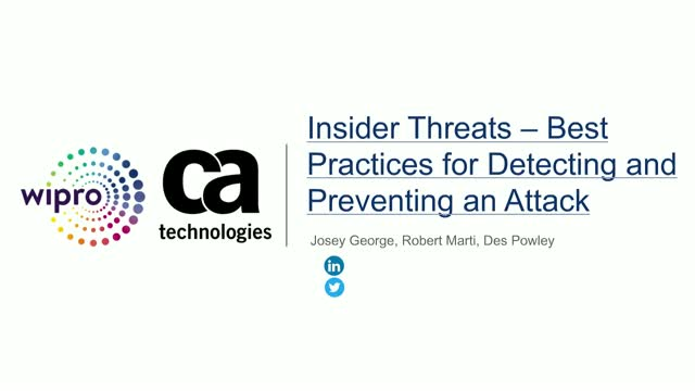 Insider Threats – Best Practices for Detecting and Preventing an Attack