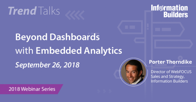 Trend Talks: Beyond Dashboards with Embedded Analytics