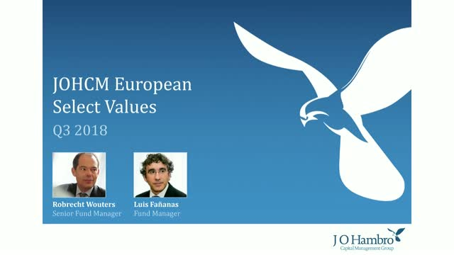 JOHCM European Select Values Fund Q3 2018 Update