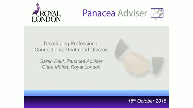 Developing Professional Connections: Death and Divorce