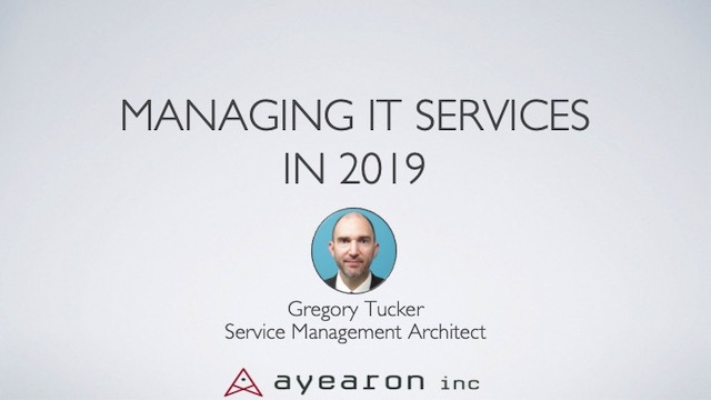 Managing IT Services in 2019