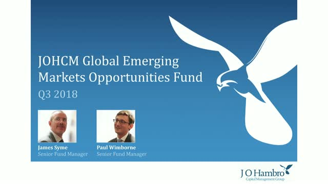 JOHCM Global Emerging Markets Opportunities Fund Q3 18 Update
