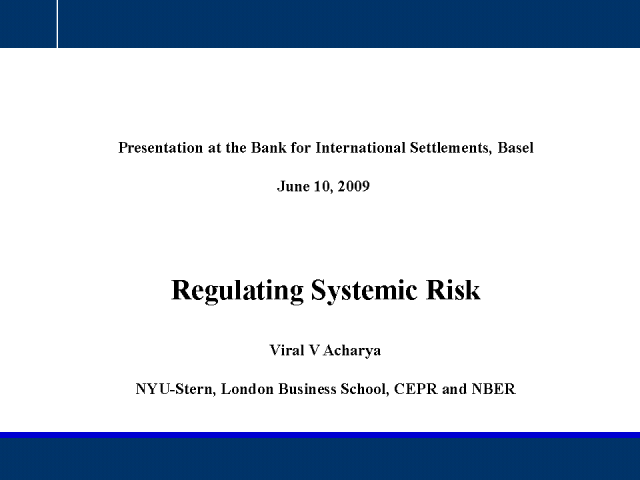 Regulating Systemic Risk