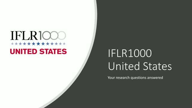 2019 IFLR1000 US Webinar - Your Research Questions, Answered
