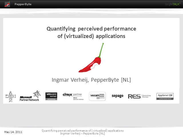 Quantifying Perceived Performance of Virtualized Applications