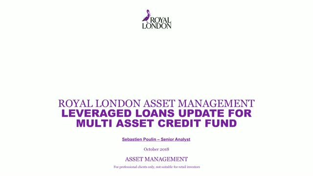 Leveraged Loan update for the RL Multi Asset Credit Fund