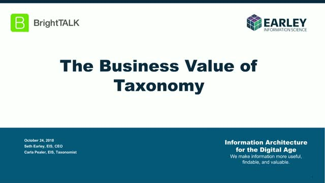 The Business Value and Bottom Line Impact of Taxonomy
